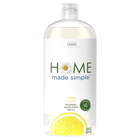 Home Made Simple Foaming Hand Soap Refill, Lemon Scent, 30 fl oz Lemon Foaming Soap