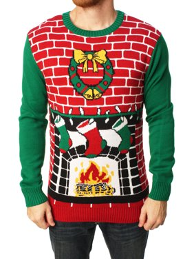 00e23aac58e91 Product Image Ugly Christmas Sweater Men s Fireplace Pullover Sweater