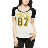 Pittsburgh Pirates '47 Women's Triple Play Scoop T-Shirt - Cream