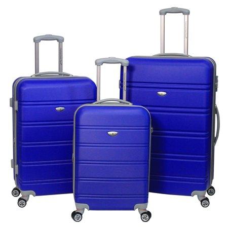 american green travel 3 piece luggage set. Black Bedroom Furniture Sets. Home Design Ideas