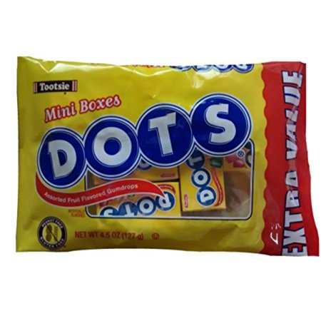 tootsie dots assorted fruit flavored gumdrops mini boxes ()
