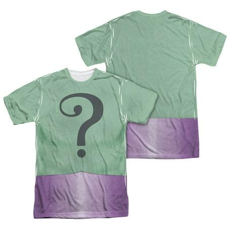 Batman Men's  Riddler Uniform  Sublimation T-shirt White