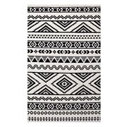 Modway Haku Geometric Moroccan Tribal 8x10 Area Rug In Black And White