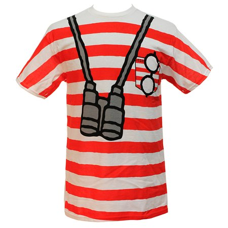 Men's Where's Waldo Costume I am Waldo Sublimation Print  T-Shirt (Tshirt Costume)