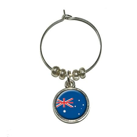 Australia Australian Flag Wine Glass (Cheap Glasses Australia)
