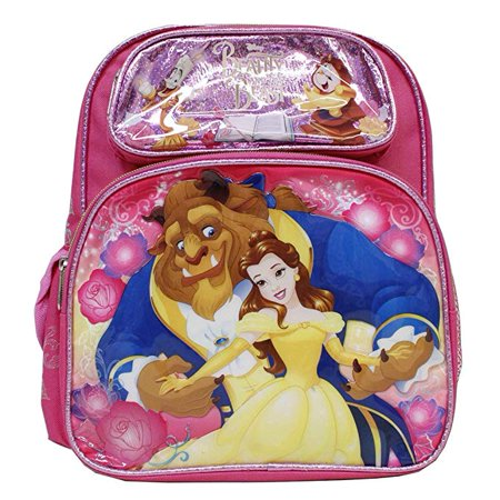 Beauty And The Beast Hot Pink Small 12' Backpack- Beast & Belle… (Beauty And The Beast Accessories)