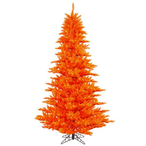 5.5' Pre-Lit Tango Orange Fir Artificial Christmas Tree - Orange Lights