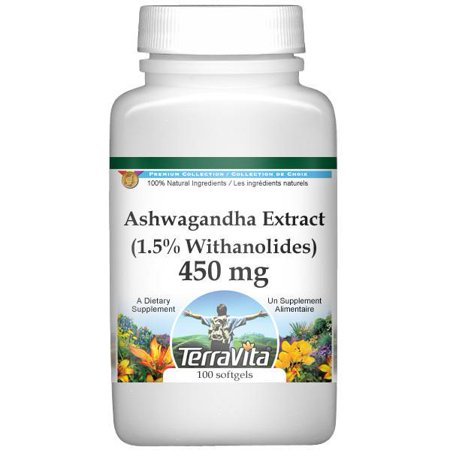 Ashwagandha (ginseng indien) Extrait (1,5% Withanolides) - 450 mg (100 capsules, ZIN: 514060)