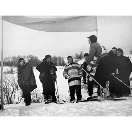Finish Of Downhill Ski Race - Hanover New Hampshire 1936 Poster Print by Arthur Rothstein