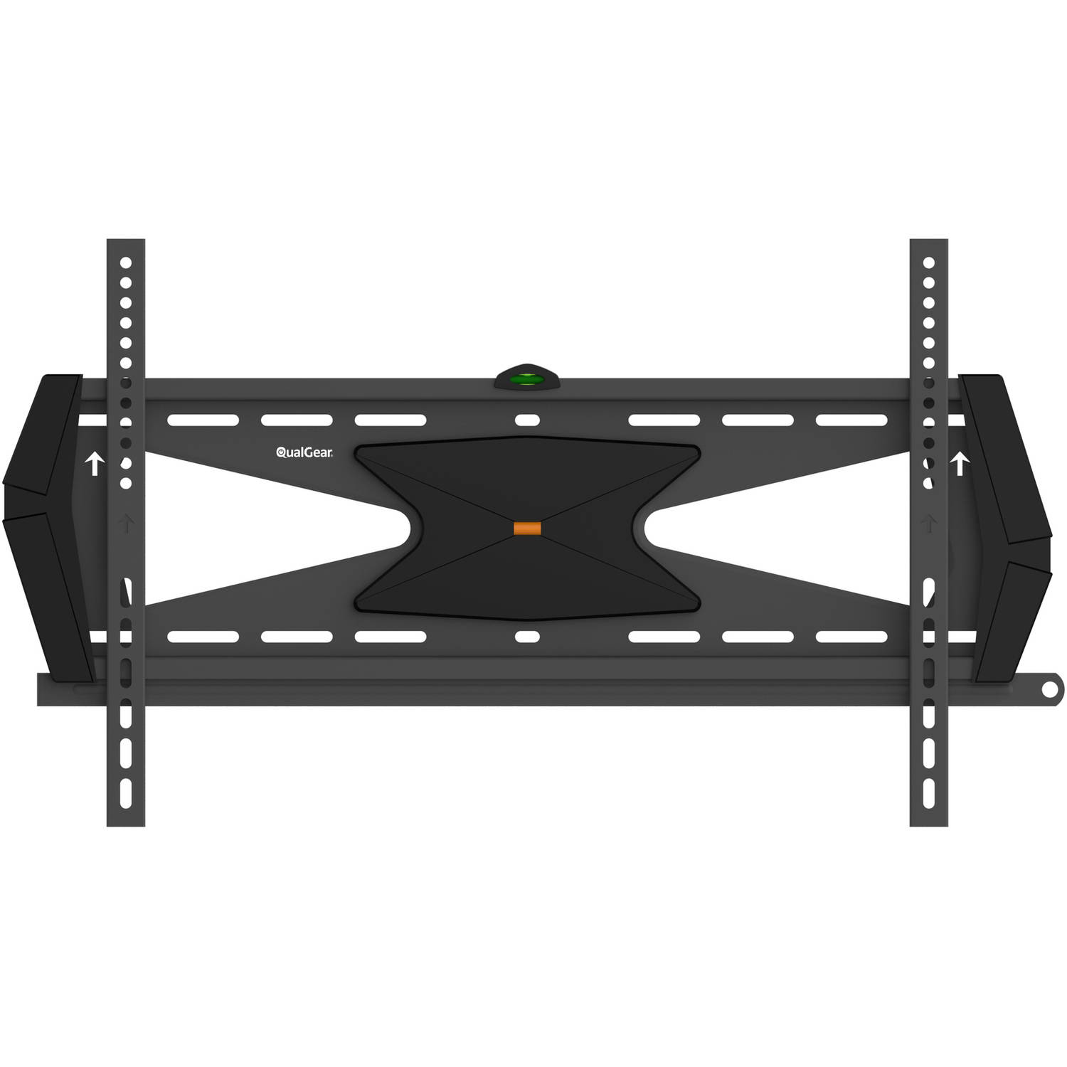 "QualGear Heavy-Duty Fixed TV Wall Mount for Most 37""-70"" Flat Panel and Curved TVs, Black"