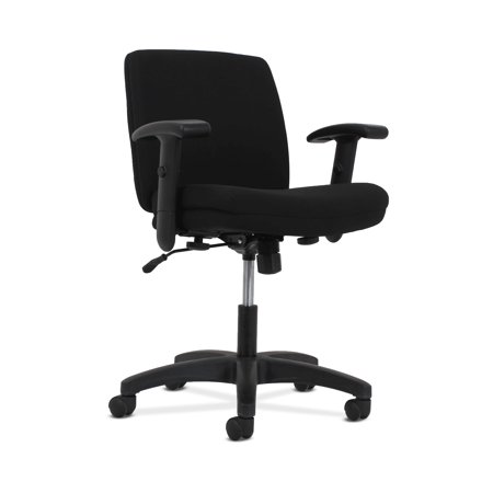 Hon Adjustable Arm Kit (HON Network Low-Back Task Chair, Swivel-Tilt Control, Height-Adjustable Arms, Black Fabric )