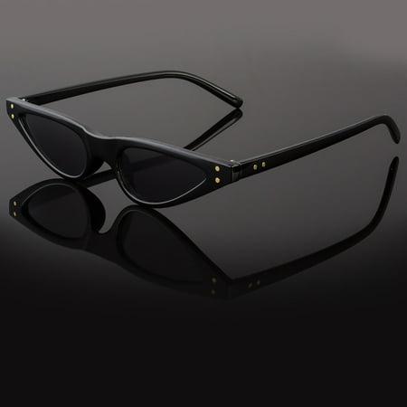 Small Cat Eye Fashion Women Sunglasses Flat Top Retro Vintage Clout (Small Ladies Sunglasses)