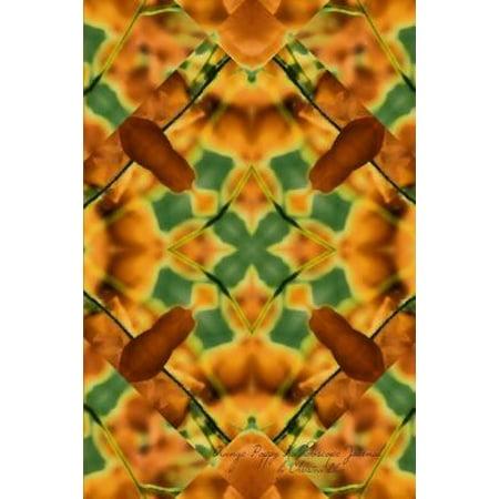 Orange Poppy Kaleidoscope Journal: (Blank Book, Notebook, Diary)