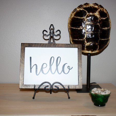 Wooden Hello Sign (Hello Wooden Sign Farmhouse Decor Farmers Market Sign Southern)