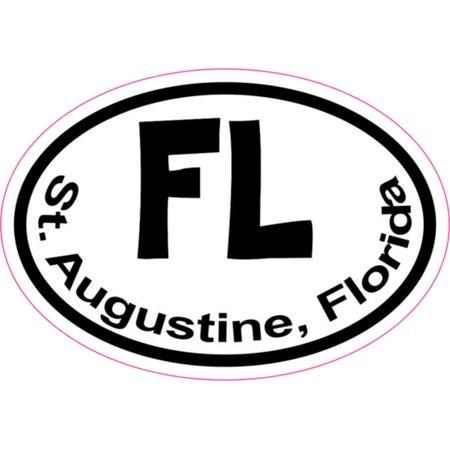 3in x 2in Oval FL St. Augustine (Stores In St Augustine Fl)
