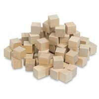 "Wooden Cubes – 3/4"" Inch - Math Wood Square Blocks – For Puzzle Making, Crafts, And DIY Projects – Pack of 250 - by Woodpecker Crafts"