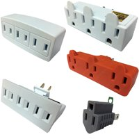 Multi-Outlet Wall Adapters, Grounding Converter, Power Wall Tap, 3 & 6 Outlets