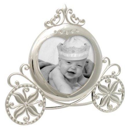 Stephan Baby Royalty Collection Keepsake Silver Plated Frame  Fairy Tale Carriage