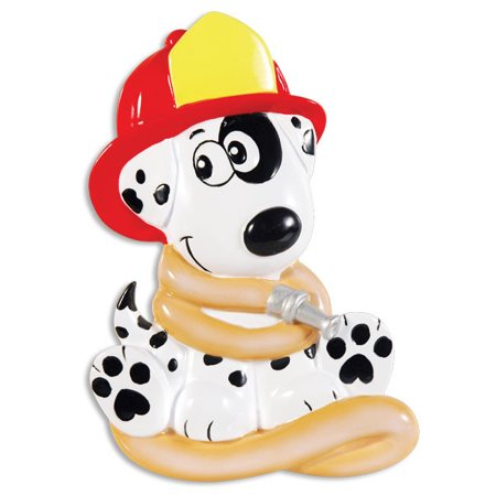 Firehouse Dalmatian Personalized Christmas Ornament (Personalized Dalmatian)