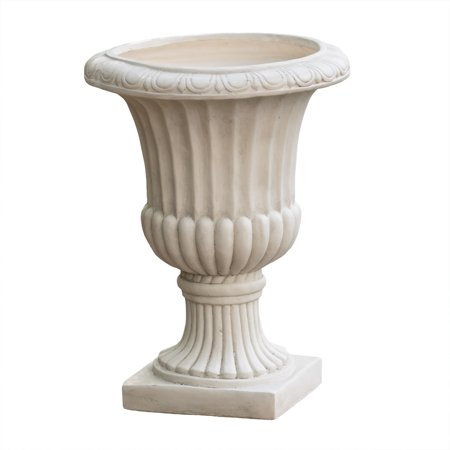 Image of Noble House Lucca Antique White Italian 26-inch Urn Planter