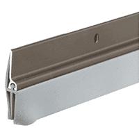 """CRL DB041DV36 Dark Bronze Anodized Triple-Fin Door Sweep for 36"""" Door"""