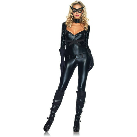 Leg Avenue Cat Girl Adult Halloween Costume - Hissing Black Cat Halloween
