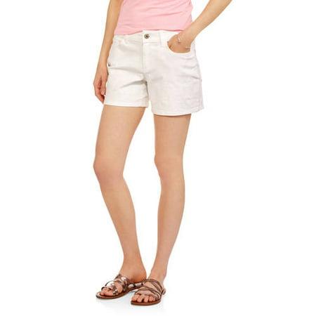 Faded Glory Women's Relaxed-Fit Boyfriend Denim Shorts - Walmart.com