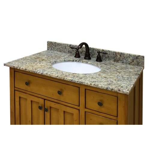 "Sagehill Designs OW3122DB 31"" Desert Beige Granite Vanity Top with 4"" Backsplash - Sink Included"