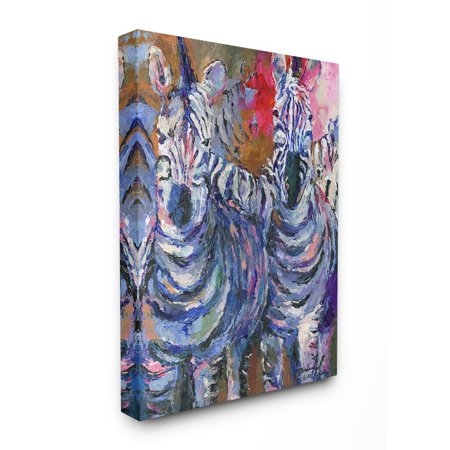 The Stupell Home Decor Collection Brightly Colored Rainbow Painted Zebra Herd Stretched Canvas Wall Art, 16 x 1.5 x 20
