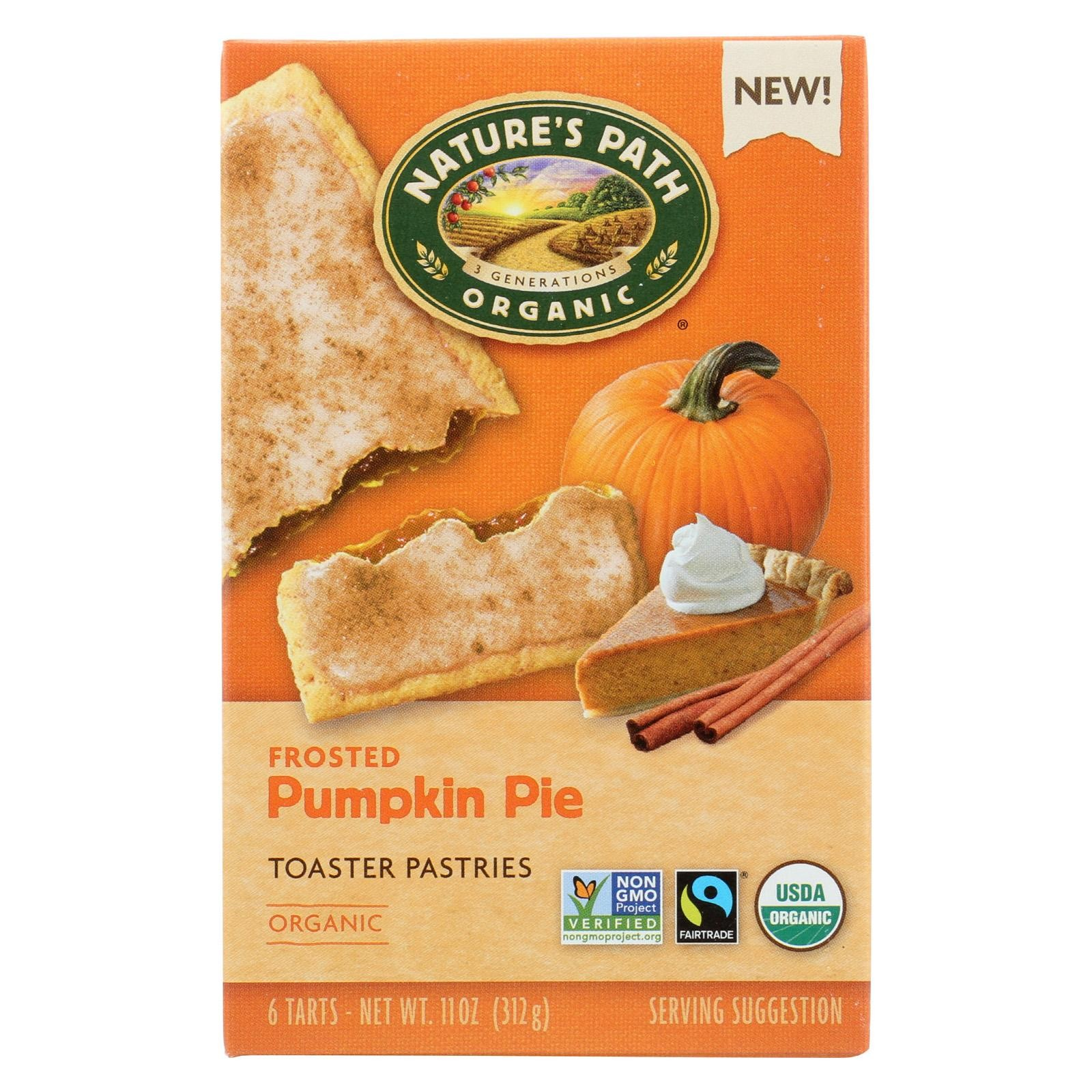 Nature's Path Toaster Pastry - Organic - Pumpkin - Pack of 12 - 11 Oz