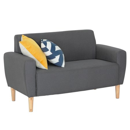ViscoLogic Mid-Century Sofa for Small Spaces (Love Seat) Grey - image 1 of 8