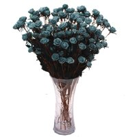 15 Heads Artificial Fake Full Blooming Rose Flower Bouquet Home Office Decoration Country Style