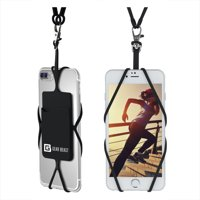Cell Phone Lanyard, Gear Beast Universal Smartphone Holder Necklace and Wrist Strap With ID Card Slot For iPhone 11 X 8 7 6S 6 Plus Galaxy S10 S9 S8 Plus Note 10 Plus 9 8 and More