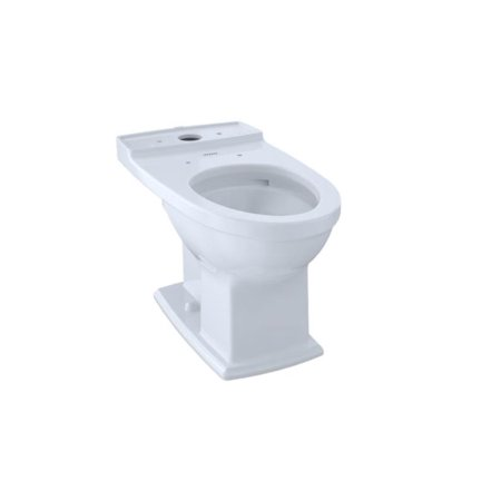 TOTO CT494CEFG#01 Connelly Universal Height Elongated Front Toilet Bowl Only In Cotton White with CeFiONtect Ceramic Glaze