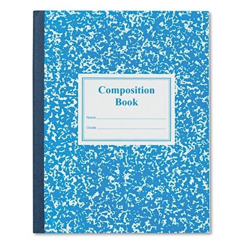 "Roaring Spring Third Grade Composition Book - 50 Sheet - Ruled - 7.75"" X 9.75"" - 50 / Each Red Marble Cover (ROA77922)"