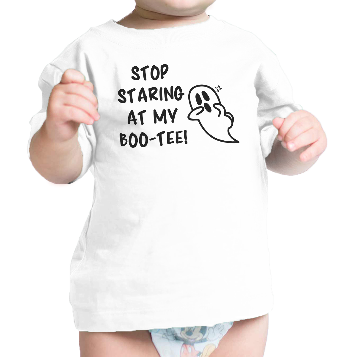 Stop Staring At My Boo-Tee Cute Baby Halloween Tshirt For Baby Boy