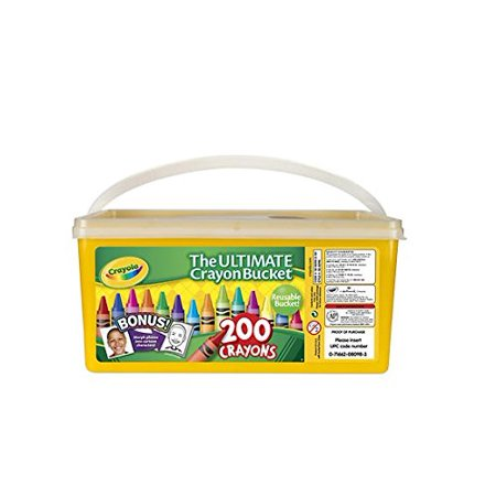 Ultimate Crayon Bucket 200 Crayons, Resealable Activity crayons Glitter Trolls Reusable JUMBO Birthdays games Sidewalk Chalk Toss double Air.., By Crayola