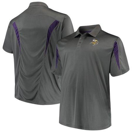 Minnesota Vikings Polo Shirt (Men's Majestic Charcoal Minnesota Vikings Big & Tall Pieced)