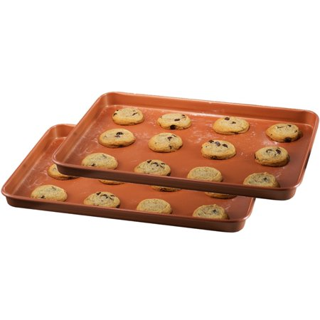 Gotham Steel Non-stick Cookie Sheet, Copper, 12 x 17, As Seen on TV
