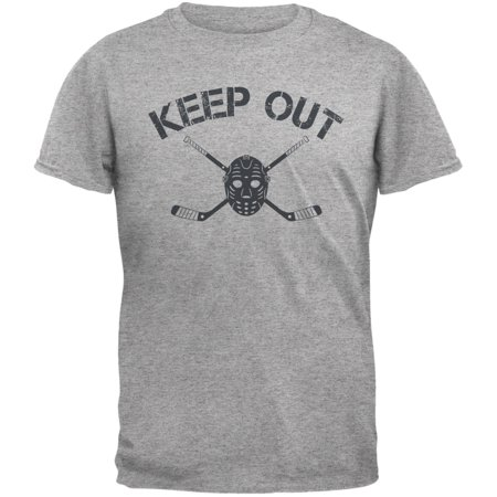 9d0bbfbdd Old Glory - Hockey Goalie Keep Out Heather Grey Adult T-Shirt ...