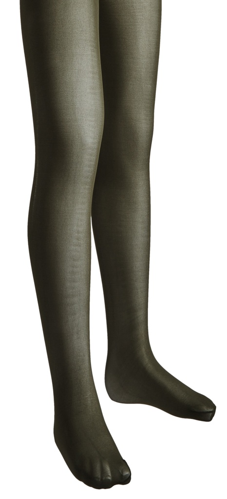 Size C Brown Butterfly Girls Microfiber Hold and stretch Footed Tights