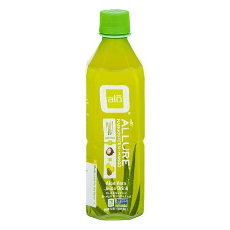 Image of Alo Allure Aloe Vera Juice Drink Mangosteen + Mango, 16.9 FL OZ