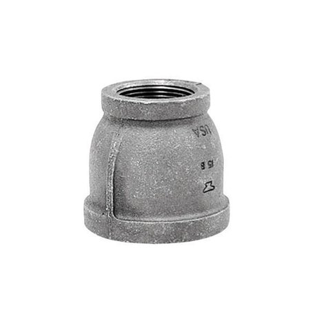 - Anvil  2 in. FPT   x 1 in. Dia. FPT  Black  Malleable Iron  Reducing Coupling