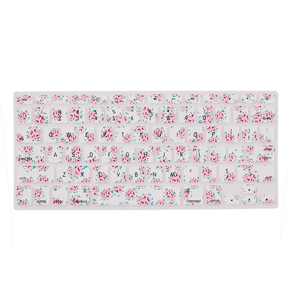 Floral Pattern Silicone Keyboard Skin Cover Film For Laptop 13