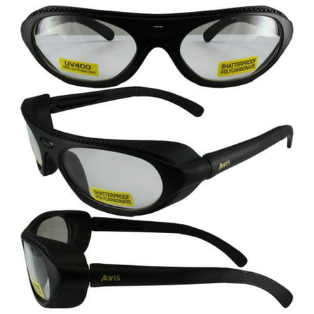 Global Vision Rawhide RX'able ANSI Z87.1 Prescription Safety Glasses Black Frames Clear Lenses