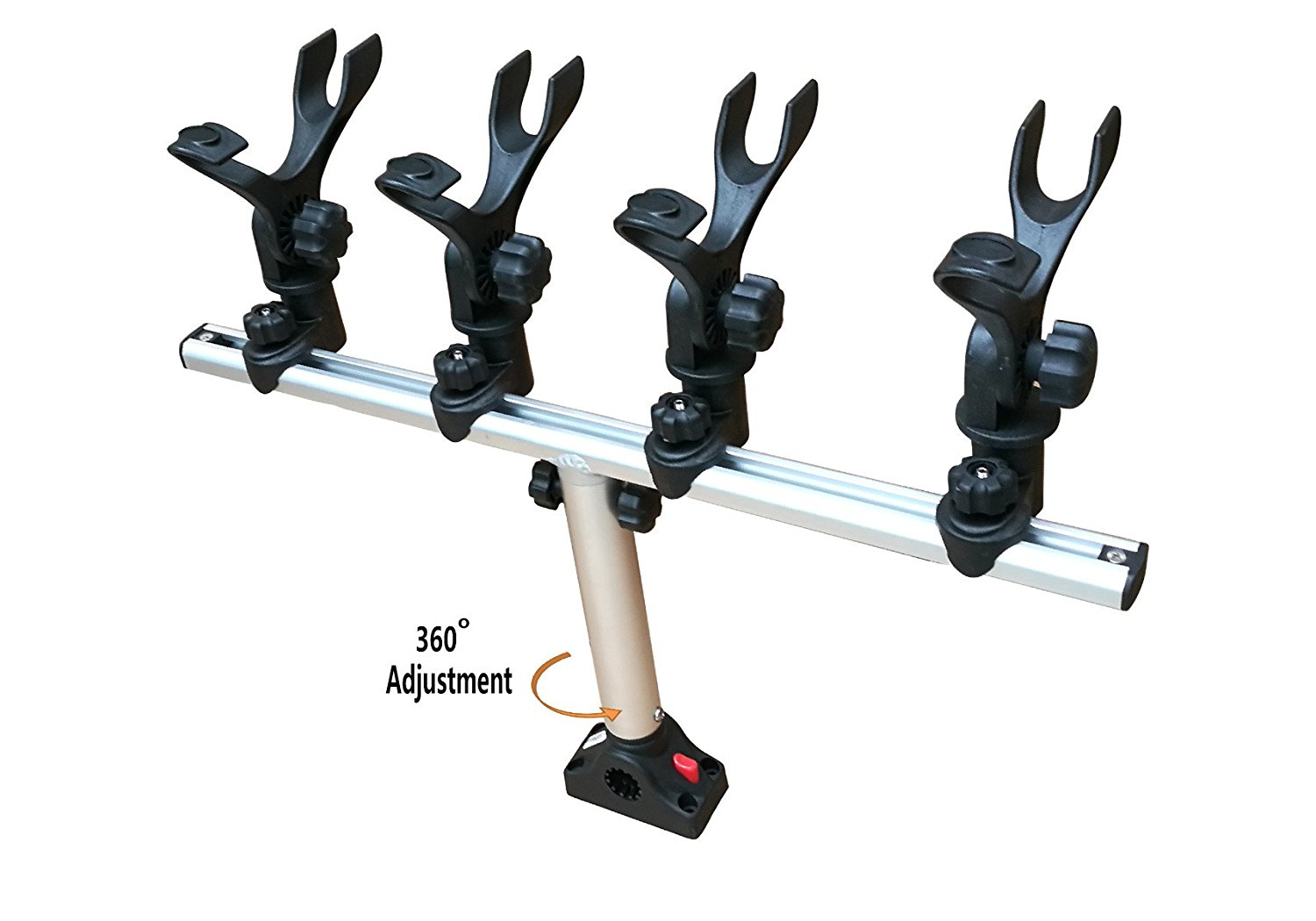 BroCraft Crappie Rod Holder System With Deck  Side Mount by