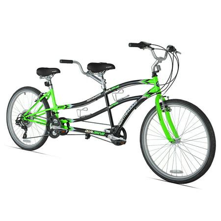 "Kent 26"" Northwoods 21-Speed Dual Drive Tandem Adult's Bike, Green/Black"
