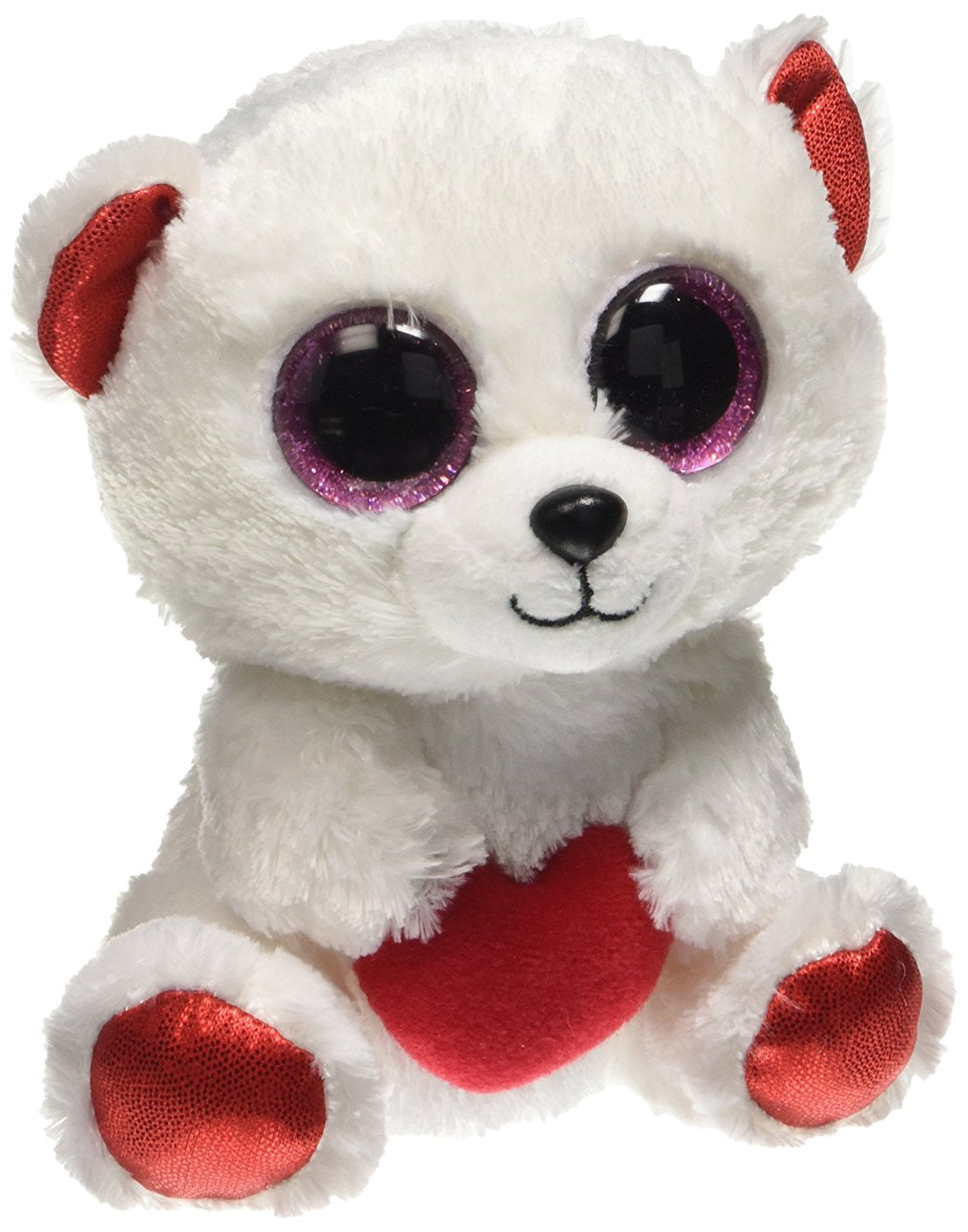 Ty Beanie Boos Cuddly Bear The Polar Bear Small 6 Plush Walmart Com