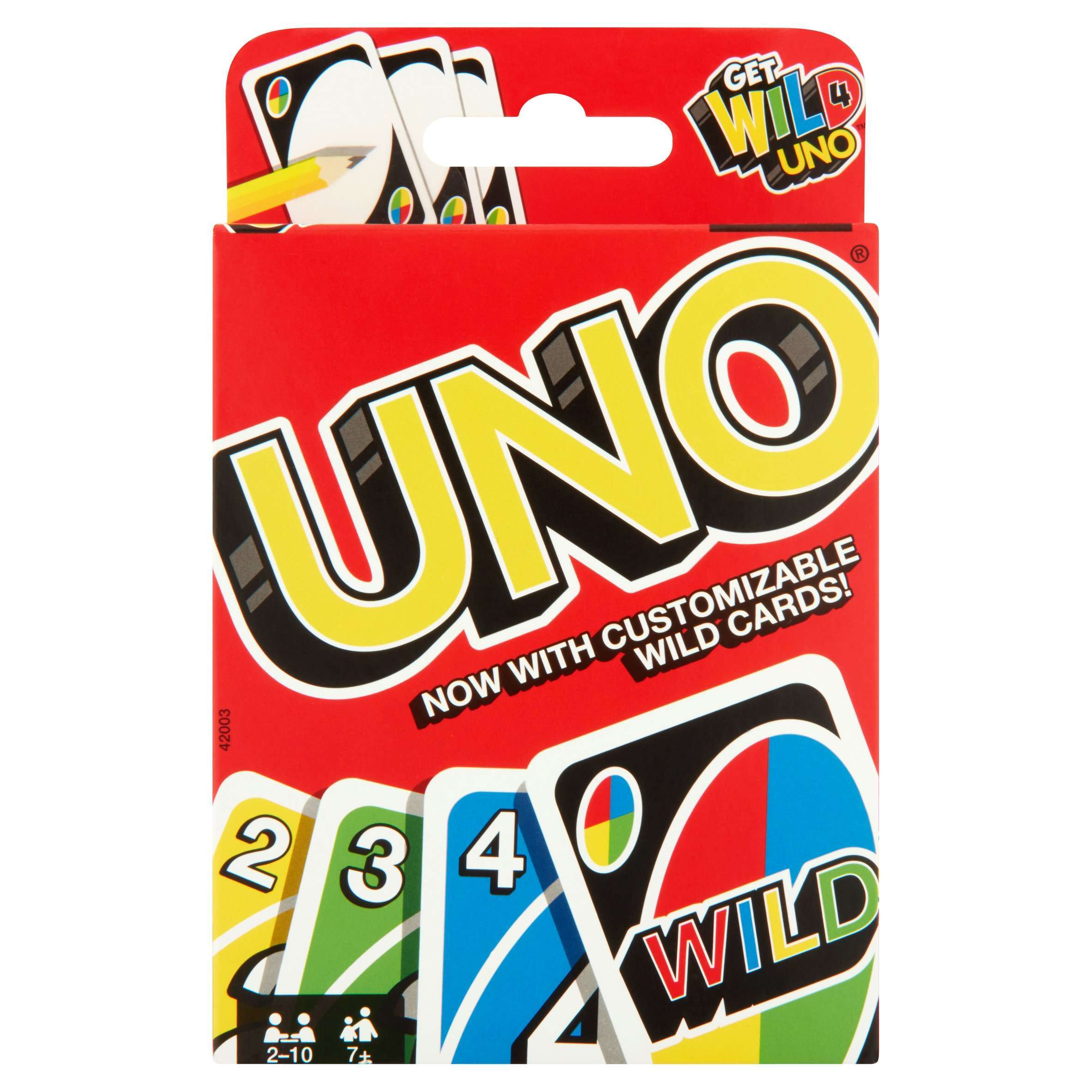 UNO Card Game, Color and Number Matching for 2 to 10 Players Ages 7 Years and Older