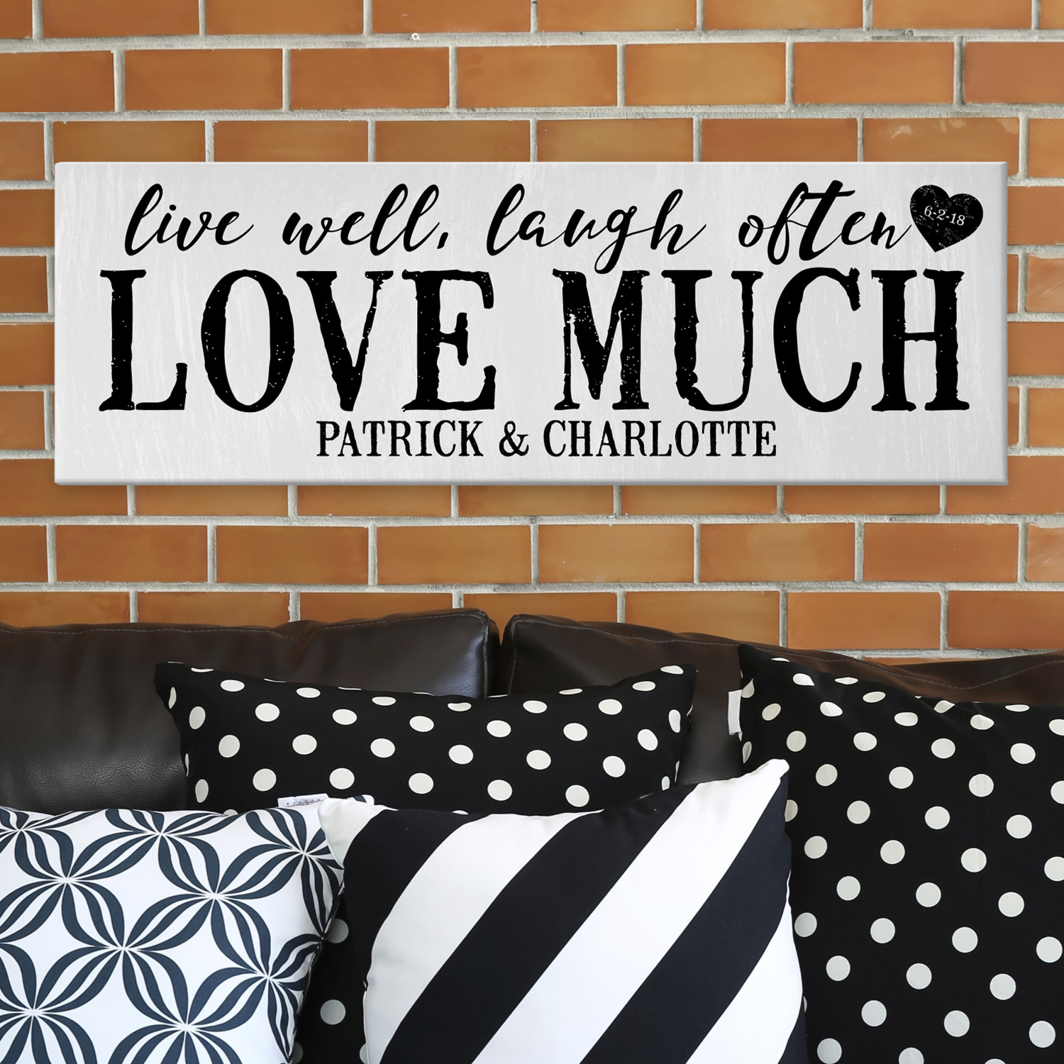 Personalized Love Much Canvas